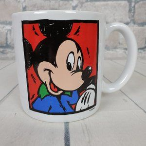 Vintage Mickey Mouse Coffee Mug Graffiti 90s Large